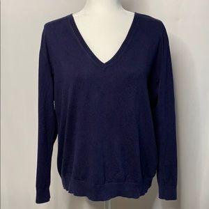 Vineyard Vines Navy V-Neck Sweater L